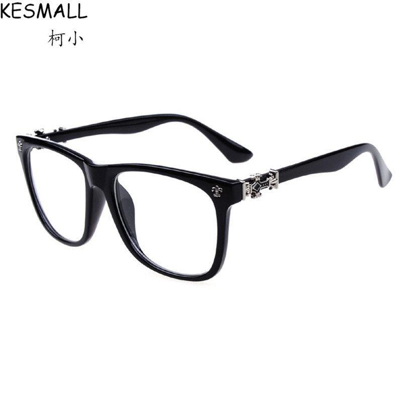Click to Buy << Women Fashion Glasses Frame Men Vintage Optical ...