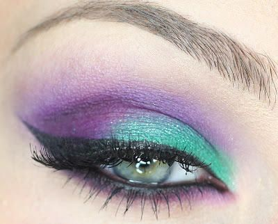 purple and teal make up for the bridesmaids maybe