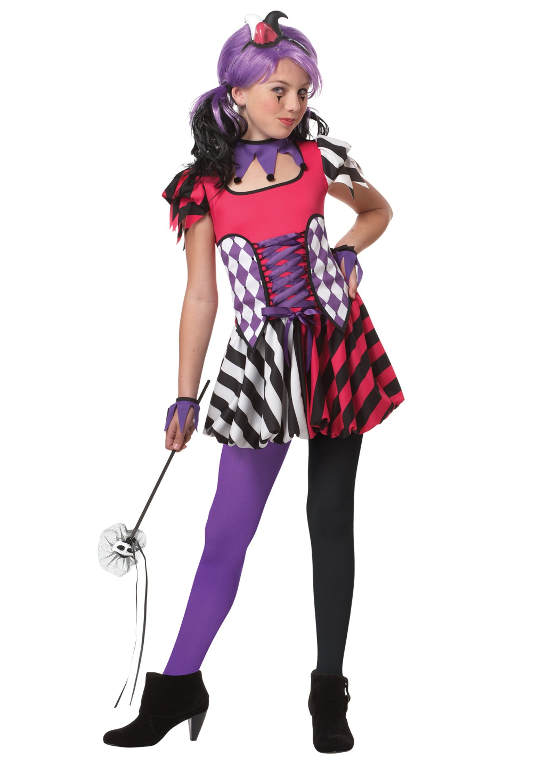 Tween Festive Jester Costume | halloween | Pinterest | Tween ...