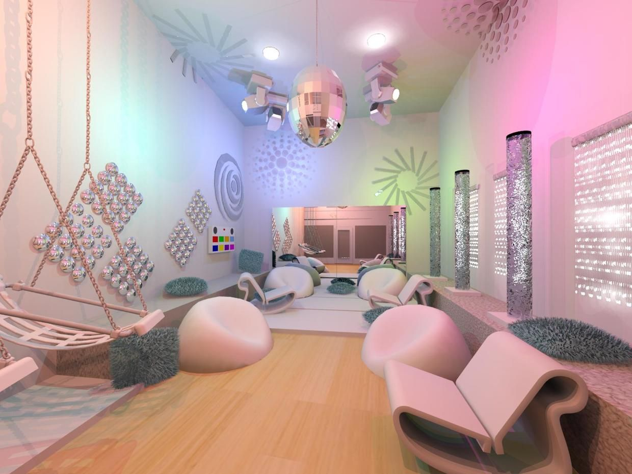 Pin By Interior Designer In A Box On Kids Teenager: Snoezelen. Multi-sensory Environment Designed For Autistic