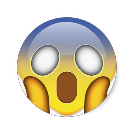 Face Screaming In Fear Emoji Emoji Stickers Fear