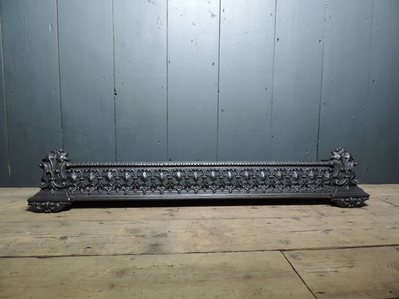 Awe Inspiring 19Th Century Victorian Antique Cast Iron Fireplace Fender Download Free Architecture Designs Scobabritishbridgeorg
