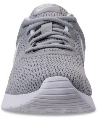419b48a62f2 Nike Women s Tanjun Wide Width (2E) Casual Sneakers from Finish Line - Gray  10