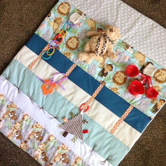 Play Mat Tummy Time Mat Baby Sensory Mat By Tinylittledots2 Baby Sensory Tummy Time Mat Baby Activity Mat