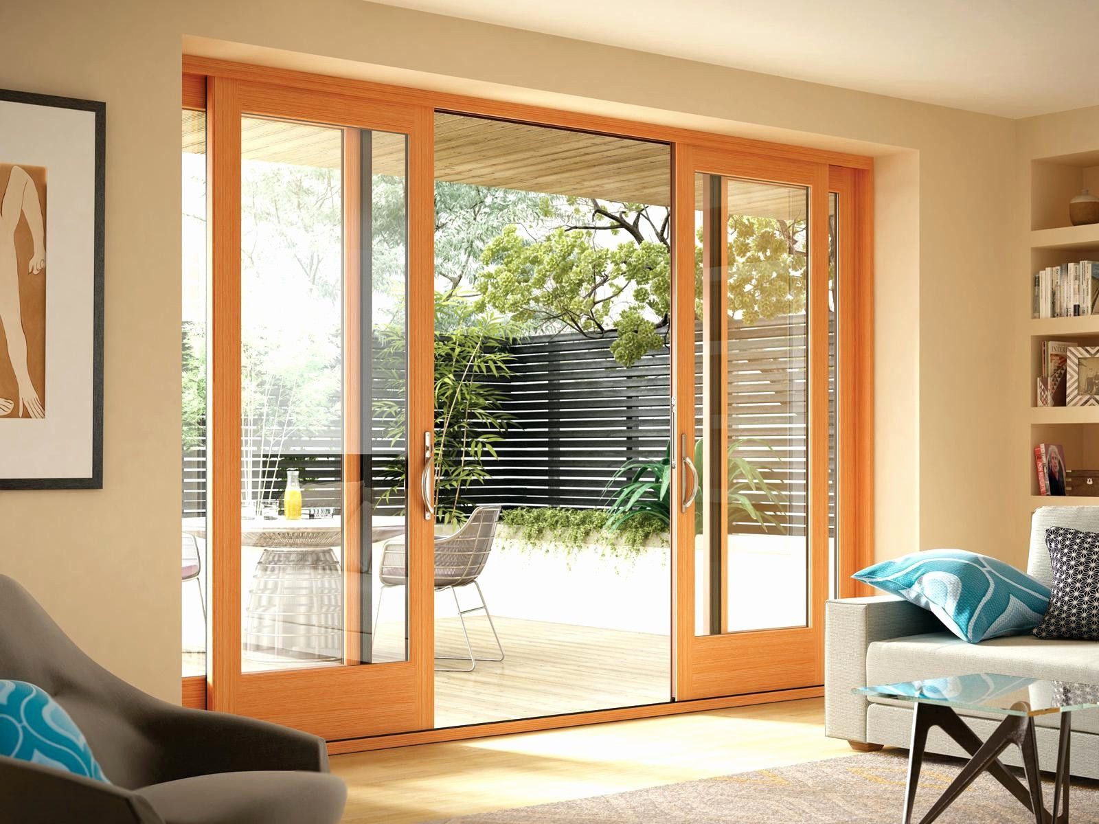 pocket french doors exterior and