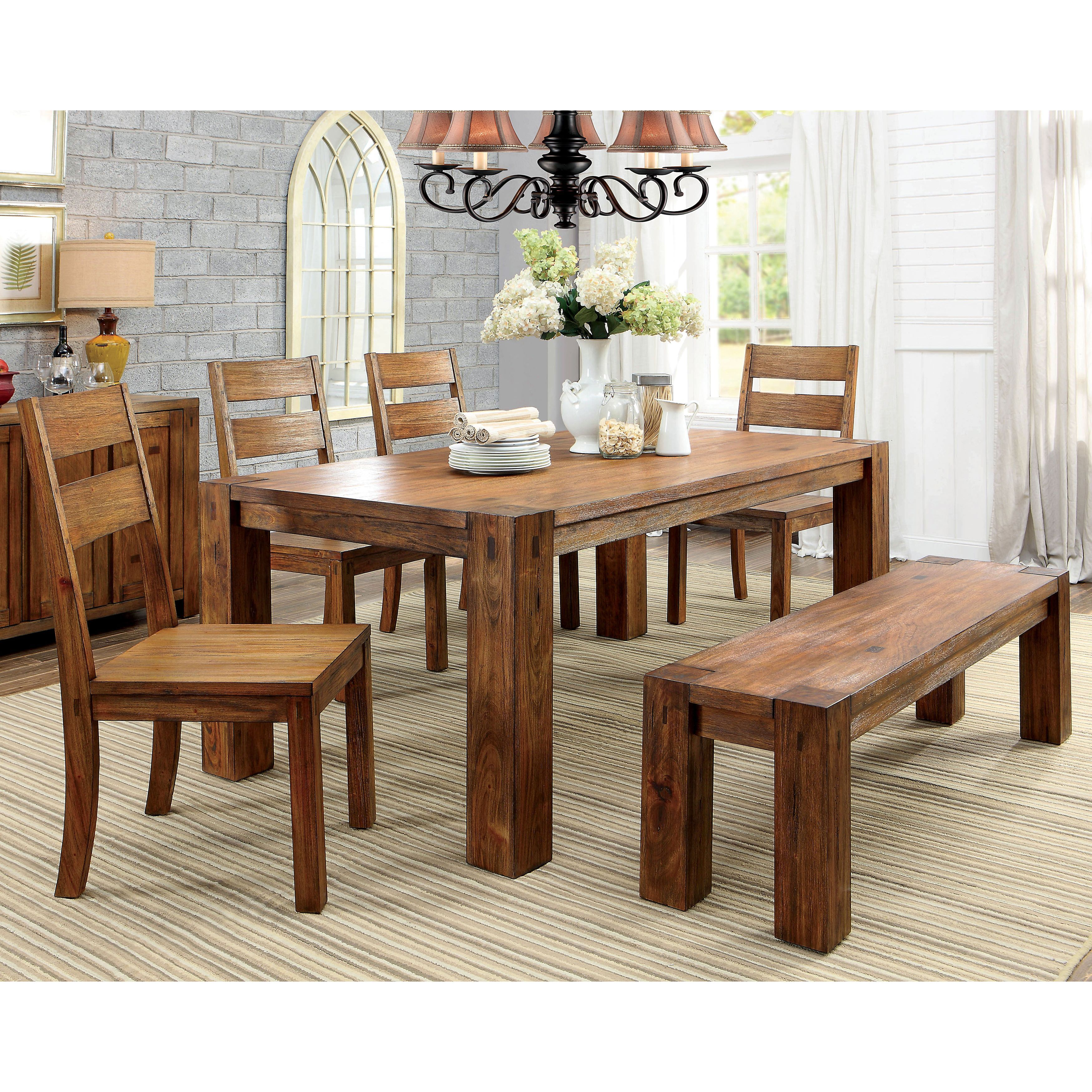 Furniture Of America Clarks Farmhouse Style Dining Table  Solid Mesmerizing Farm Style Dining Room Table Review