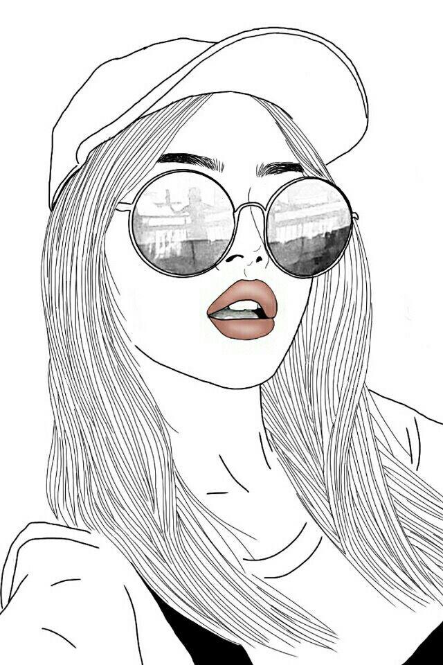 Dessin De Fille Girl Outline And Art Image Swag Noir Et Auto