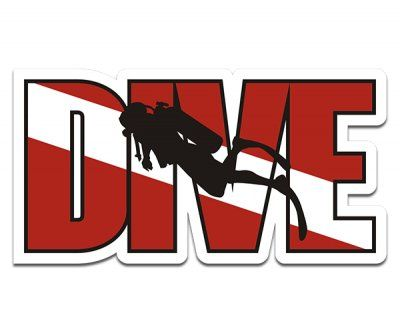 Dive scuba diver sticker