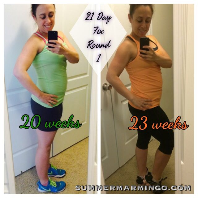 21 Day Fix Transformation 20 weeks-23 weeks pregnant Definitely