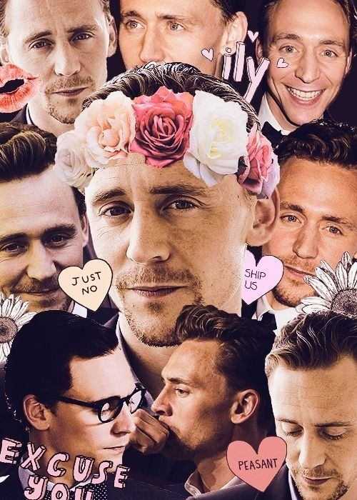 photoshop hair style tom hiddleston edit with a flower crown tom 6283