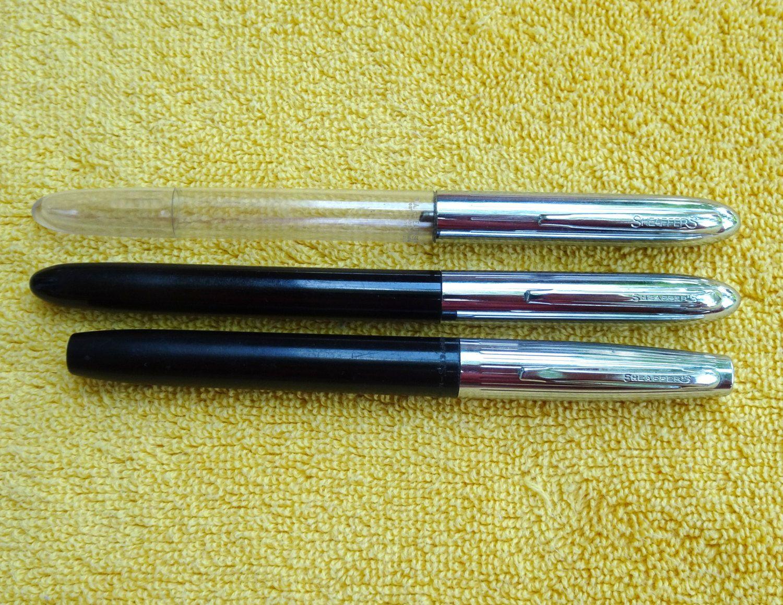 Vintage Sheaffer Fountain Pen - Silver + Waterman Fountain Pen