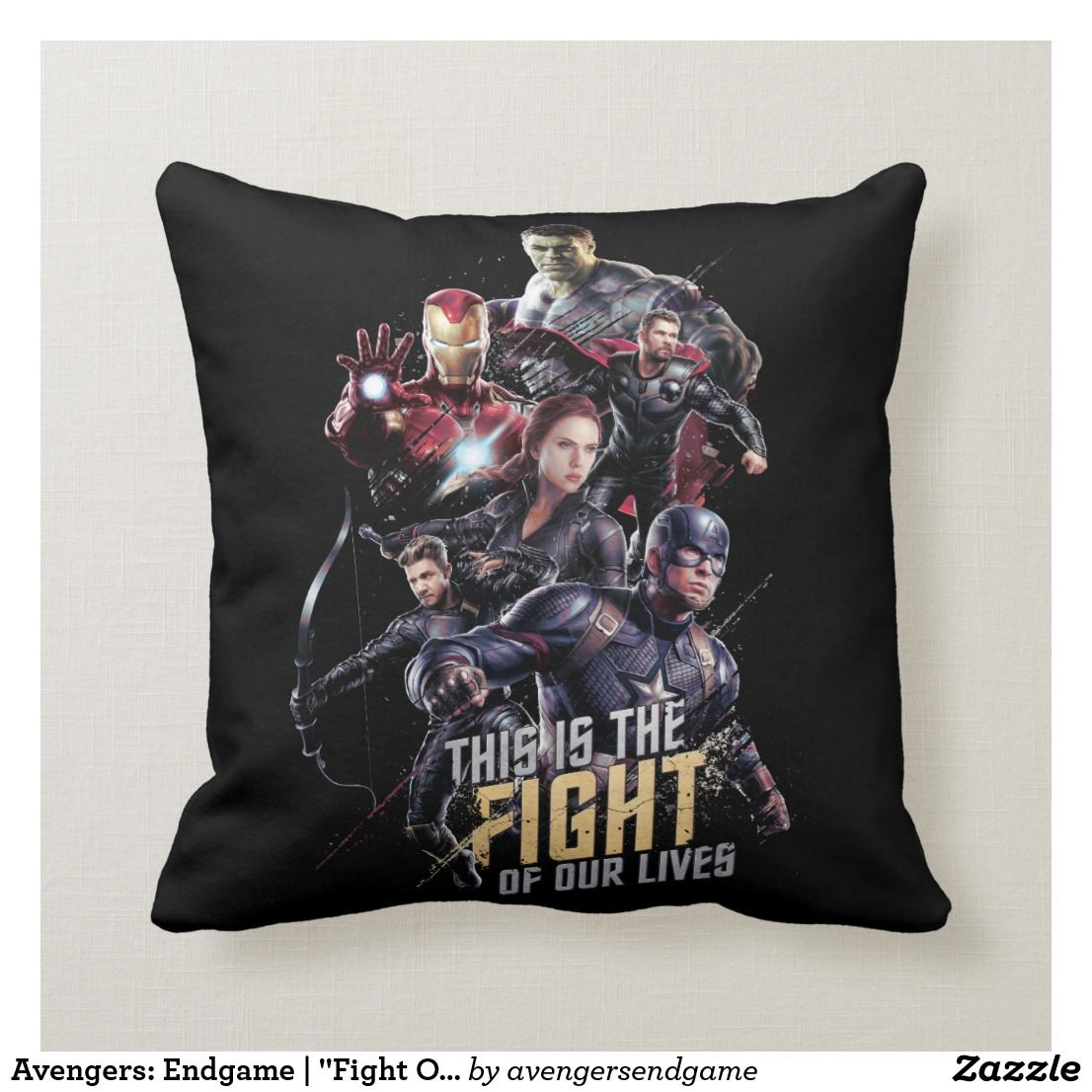 Avengers Endgame Fight Of Our Lives Avengers Throw Pillow Pillows Throw Pillows Avengers