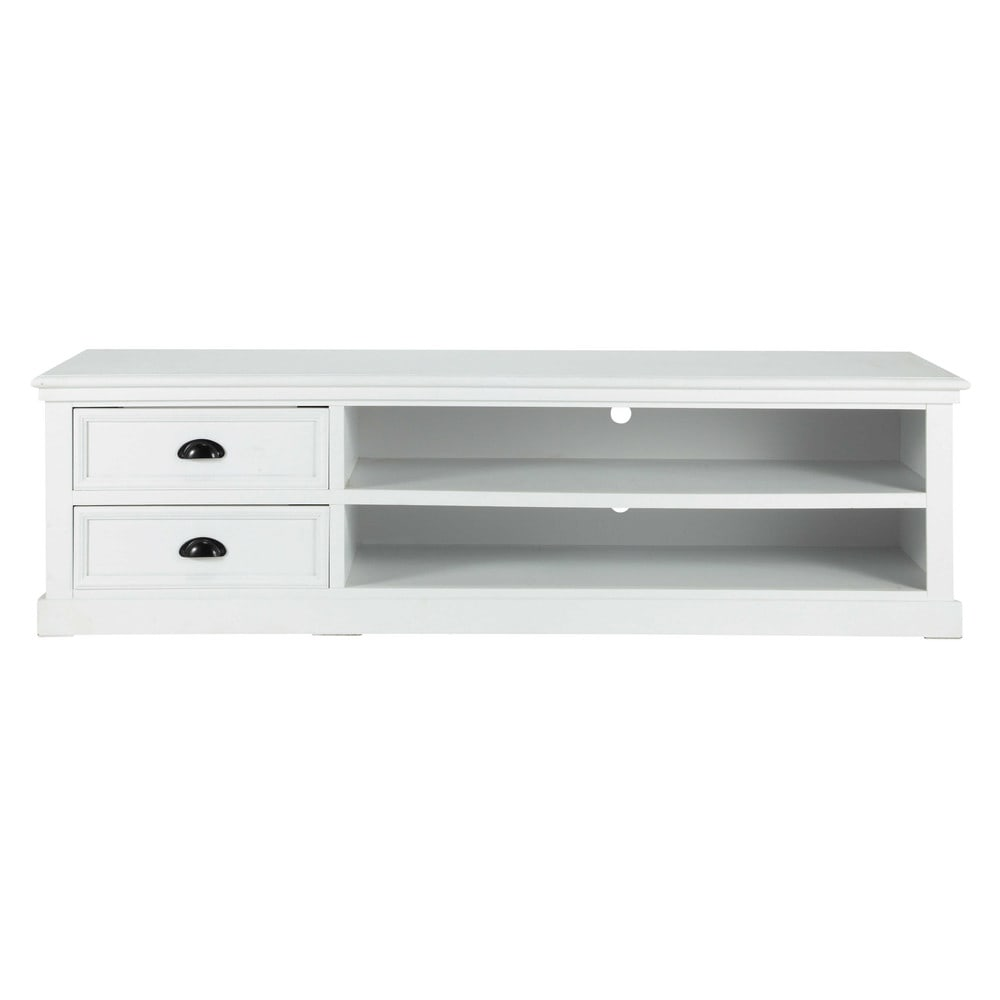 Meuble Tv En Pin Blanc L 160 Newport Deco Pinterest Tv