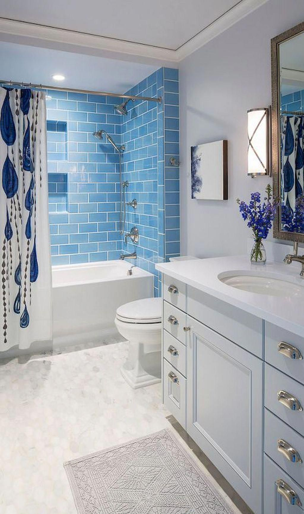 Good Photos Bathroom Remodel Blue Concepts Pop Quiz What S The Typical Amount Of Space Neces Blue Bathroom Tile Minimalist Bathroom Design Minimalist Bathroom
