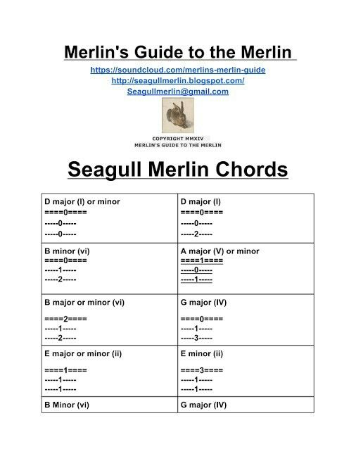 Seagull Merlin Chords Dulsmer Pinterest Mountain Dulcimer And