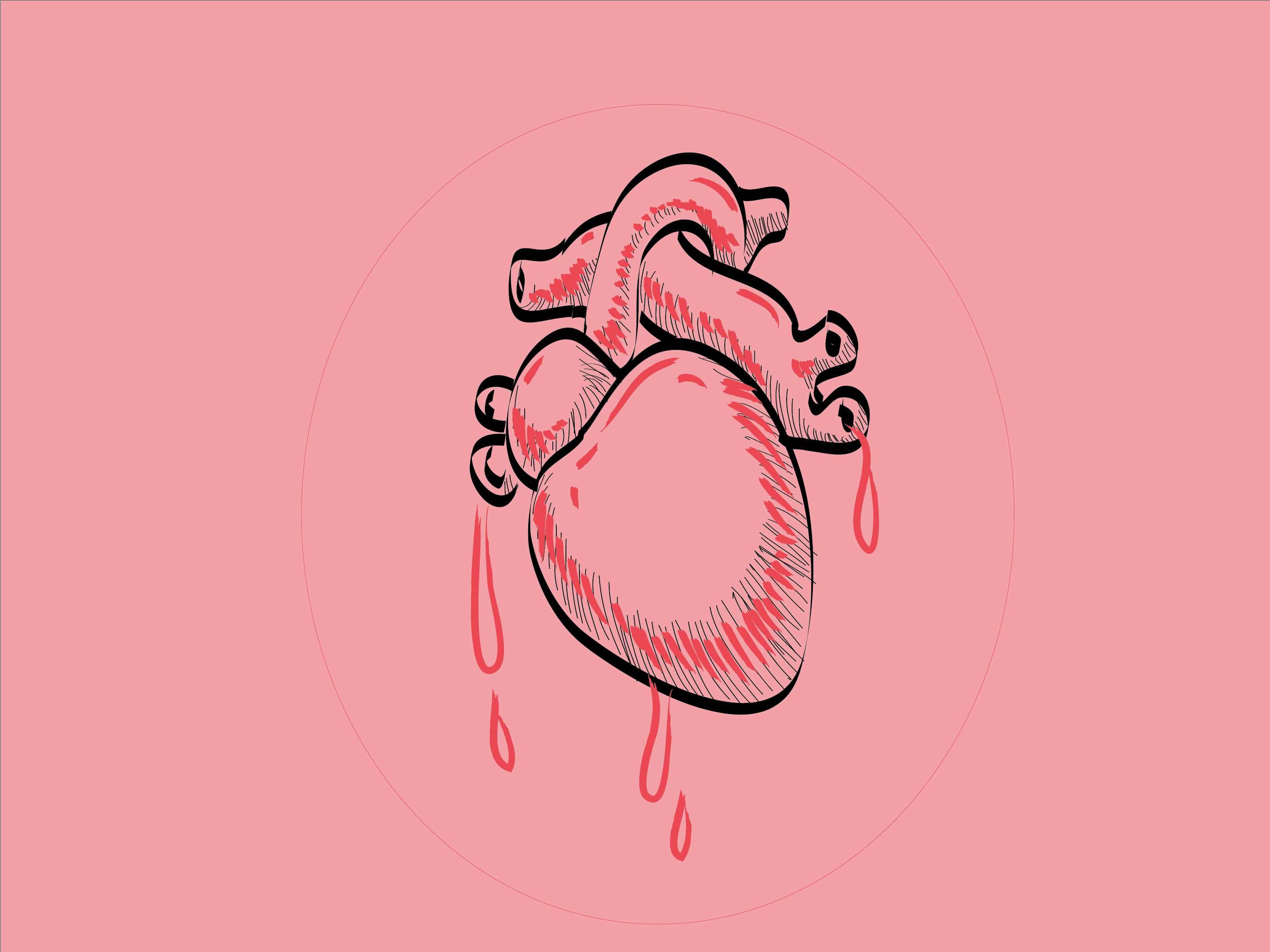 Draw A Human Heart Easy Drawings Drawings Sketches
