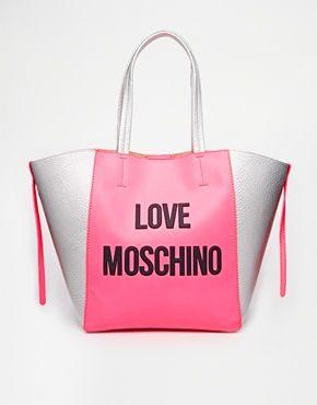 Love Moschino Logo Shopper Bag in Pink | Splurge ...