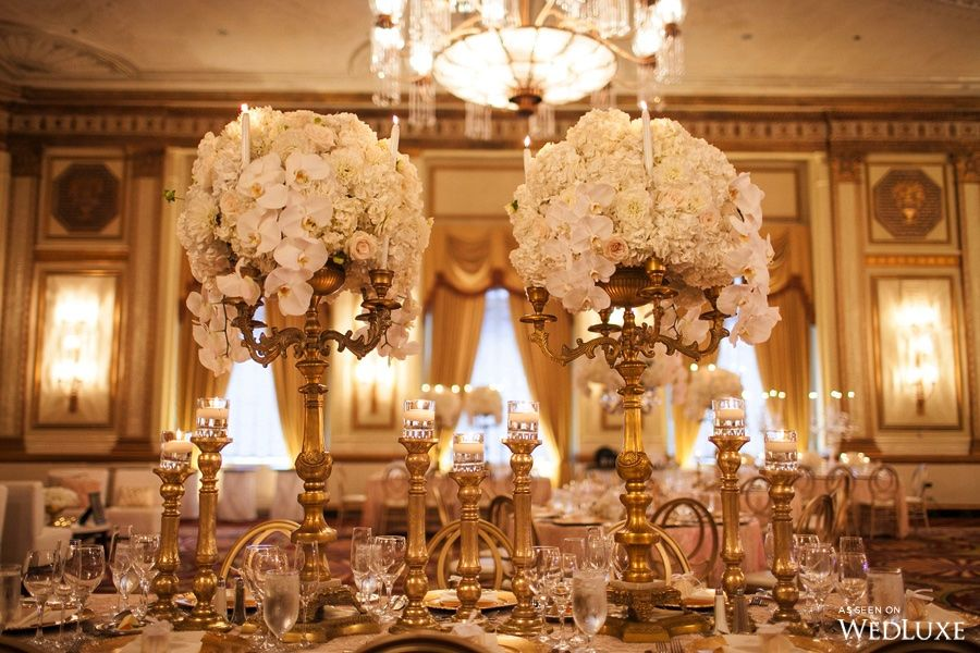 Wedluxe A White Fl Filled Wedding With Gilded Details Photography By