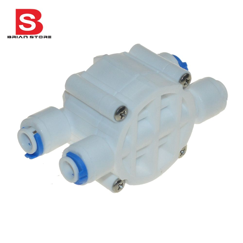 1 4 Hose Quick Connection Auto Shut Off 4 Way Valve For Ro Reverse Osmosis Aquarium Water Filter System Water Filters System Reverse Osmosis Plumbing