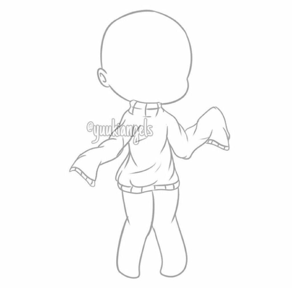Gacha Base In 2020 Chibi Drawings Drawing Anime Bodies Drawing Base