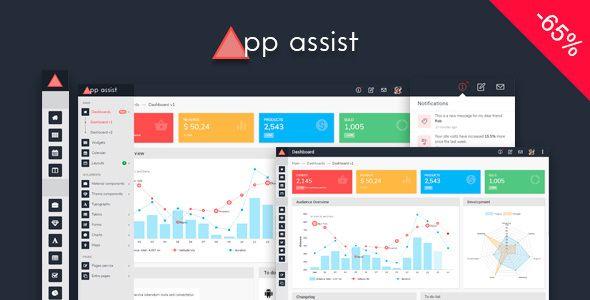 App assist - Angular 4 Bootstrap 4 LTR/RTL Admin Template | Website