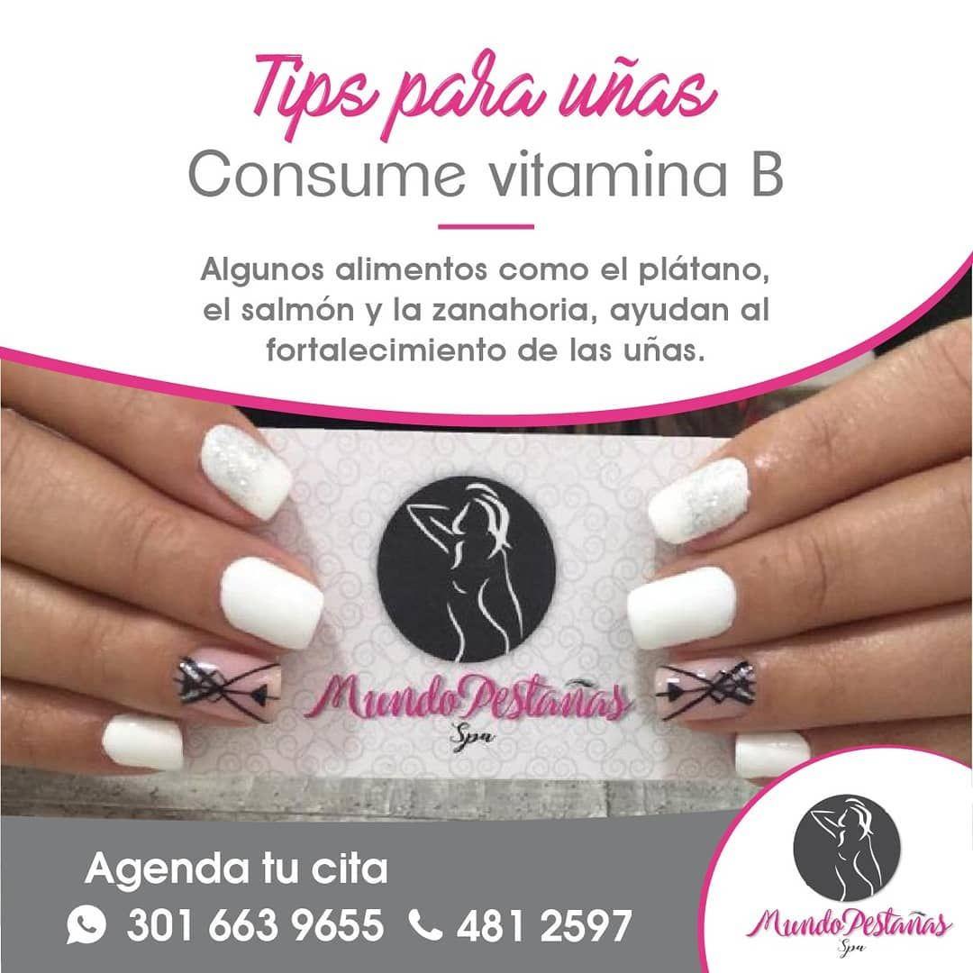 Mundo Pestañas Spa On Instagram Consume Alimentos Con Vitamina B Para Fortalecer Tus Uñas Agenda Tu Cita 3016639655 4812597 Uñasperma Nails Beauty
