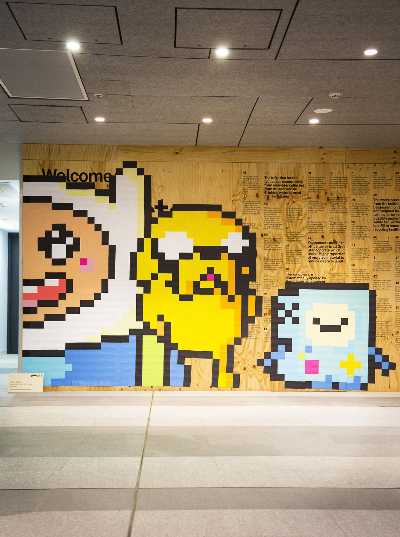 Art Not Apart Adventure Time Post-it note mural 2014 - Kerrie Neilen ...