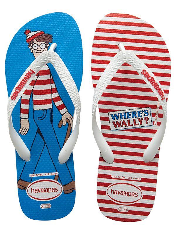 1318268e524f72 Havaianas lança modelos Onde está Wally. Personagem comemora 25 anos em 2013