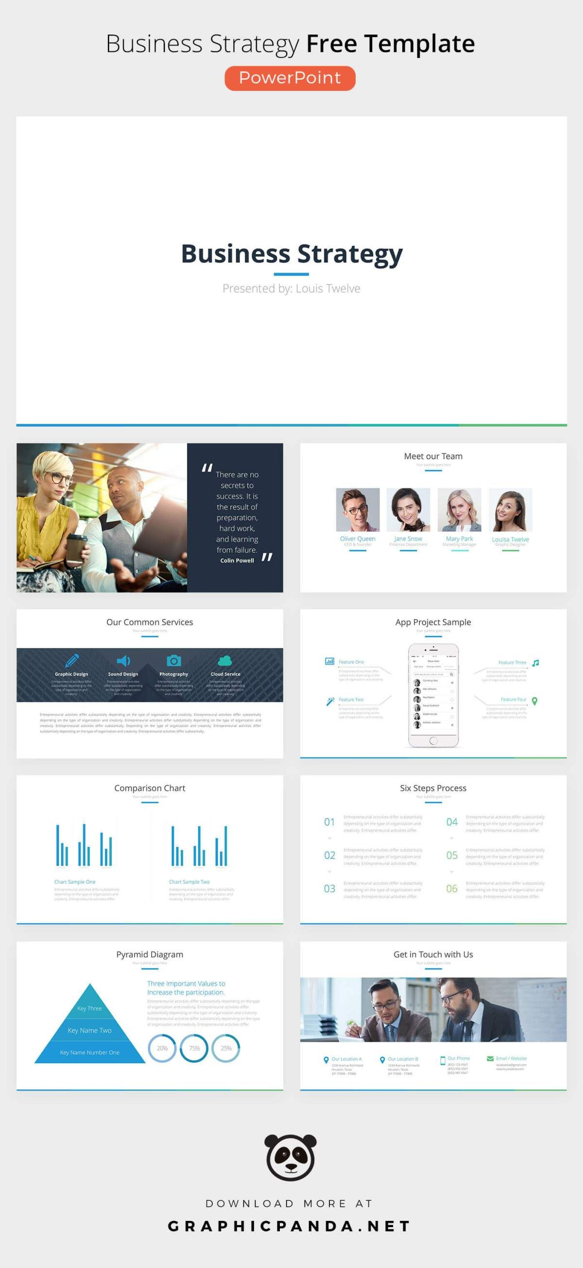 free business strategy powerpoint template presentations