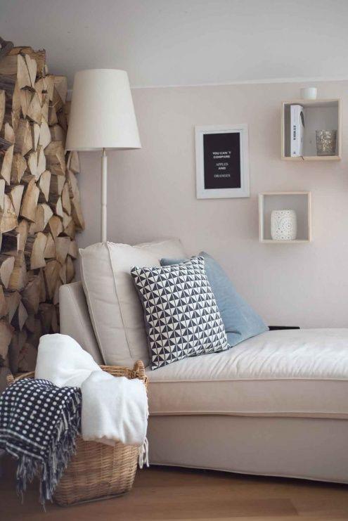 Wohnzimmer   Leseecke, Tags Sofa + Kissen + Kamin + Ikea + Wohnzimmer +  Dekoration + Kaminholz + Selbst Genäht + Gemütlich + Ektorp + Kivik .
