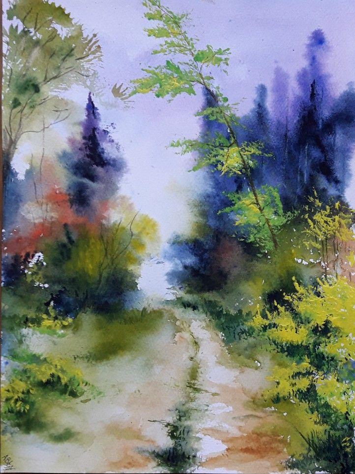 23x31cm Approche Aquarelle Watercolor Aquarelle Peinture A L