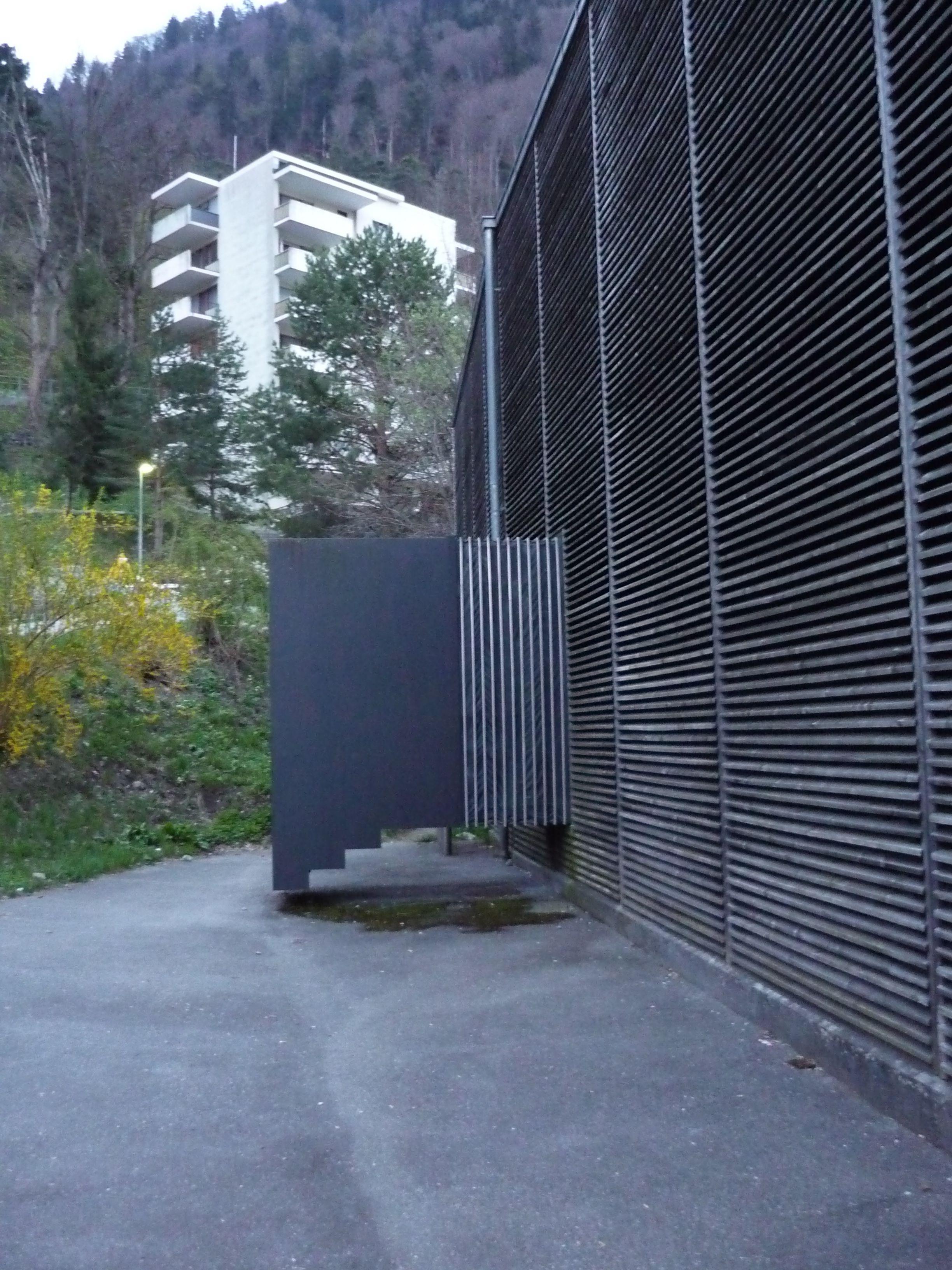 peter zumthor shelter for archaeological site chur entrance architektur kunst. Black Bedroom Furniture Sets. Home Design Ideas