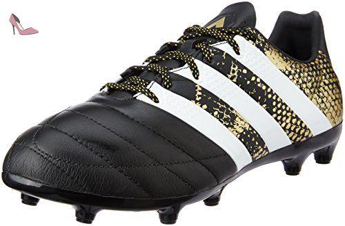 adidas Ace 16.3 Fg Leather, Chaussures de Football Homme, Noir (Core Black/