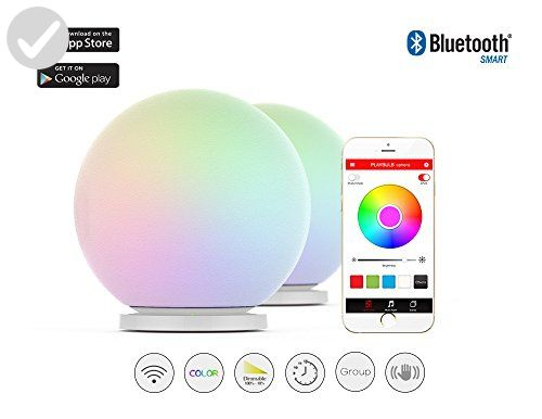 Led Touch Color Change Night Light Motion Sensor Bedside Lamp Bluetooth Speaker Touch Control Support Mobile Phone App Contr App Control Phone Apps Night Light