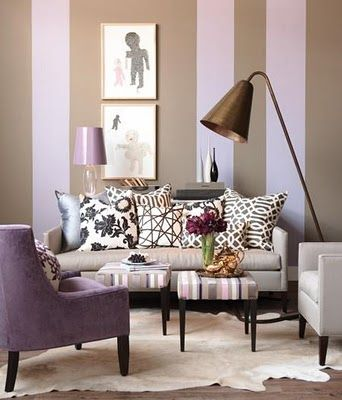 Love the different width of the stripes Decor Pinterest Living