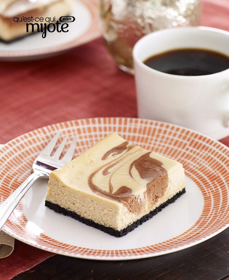 Barres au fromage à la crème, au chocolat et au cappuccino #recette