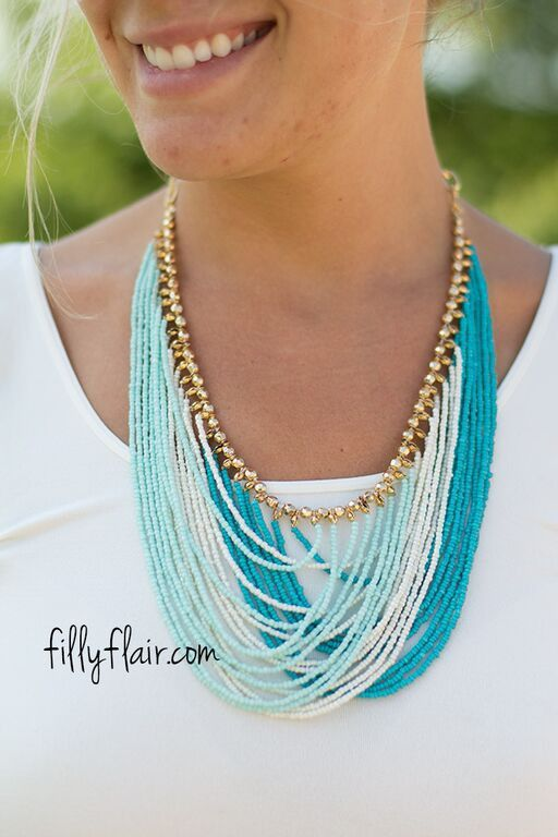 Waves of Lave Necklace