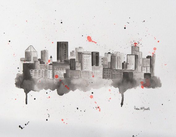 St Paul Skyline - St Paul Art - St Paul Skyline Print - St