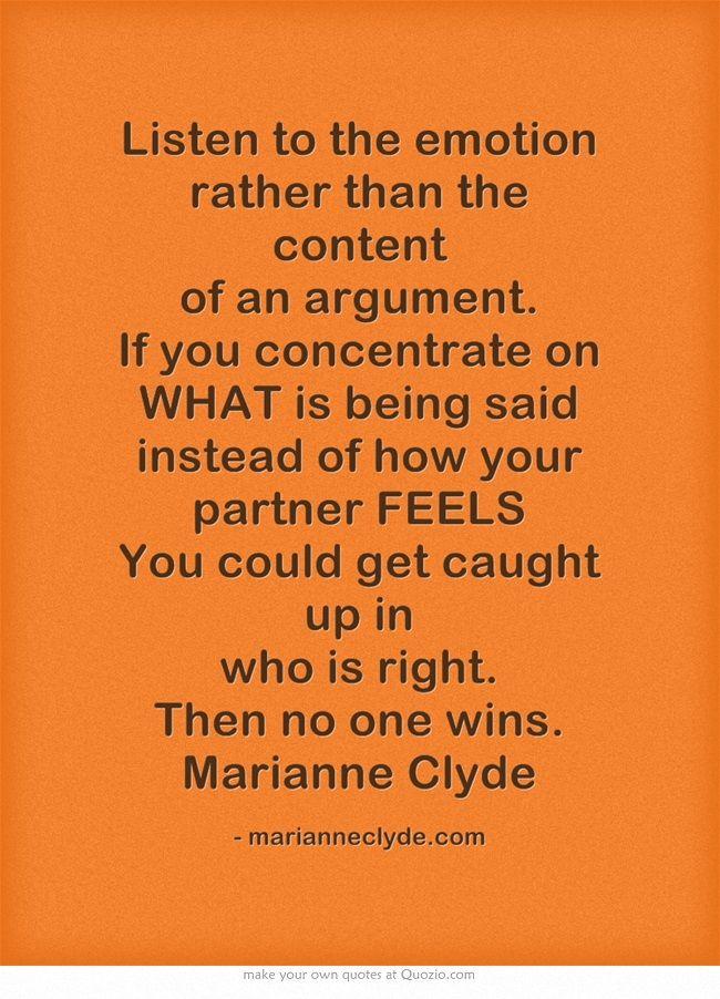 How to get your partner listen