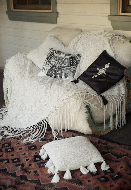 Crochet Throw Boho Throw Bohemian Blanket White Throw By Mayobaby Bohemian Decor Boho Interior Design Home