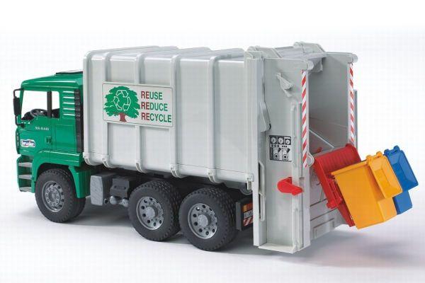 Bruder Toys Man Garbage Truck Rear Loading Green Garbage Truck Toy Trucks Trucks