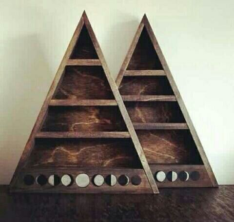 moon phase triangle shelf for crystal storage | HOME - DIY ...