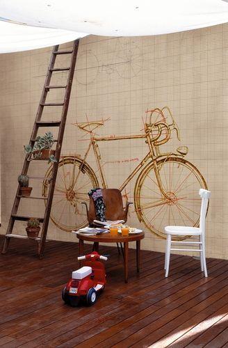 Papier Peint A Motif Contemporain Granfondo By Talva Design