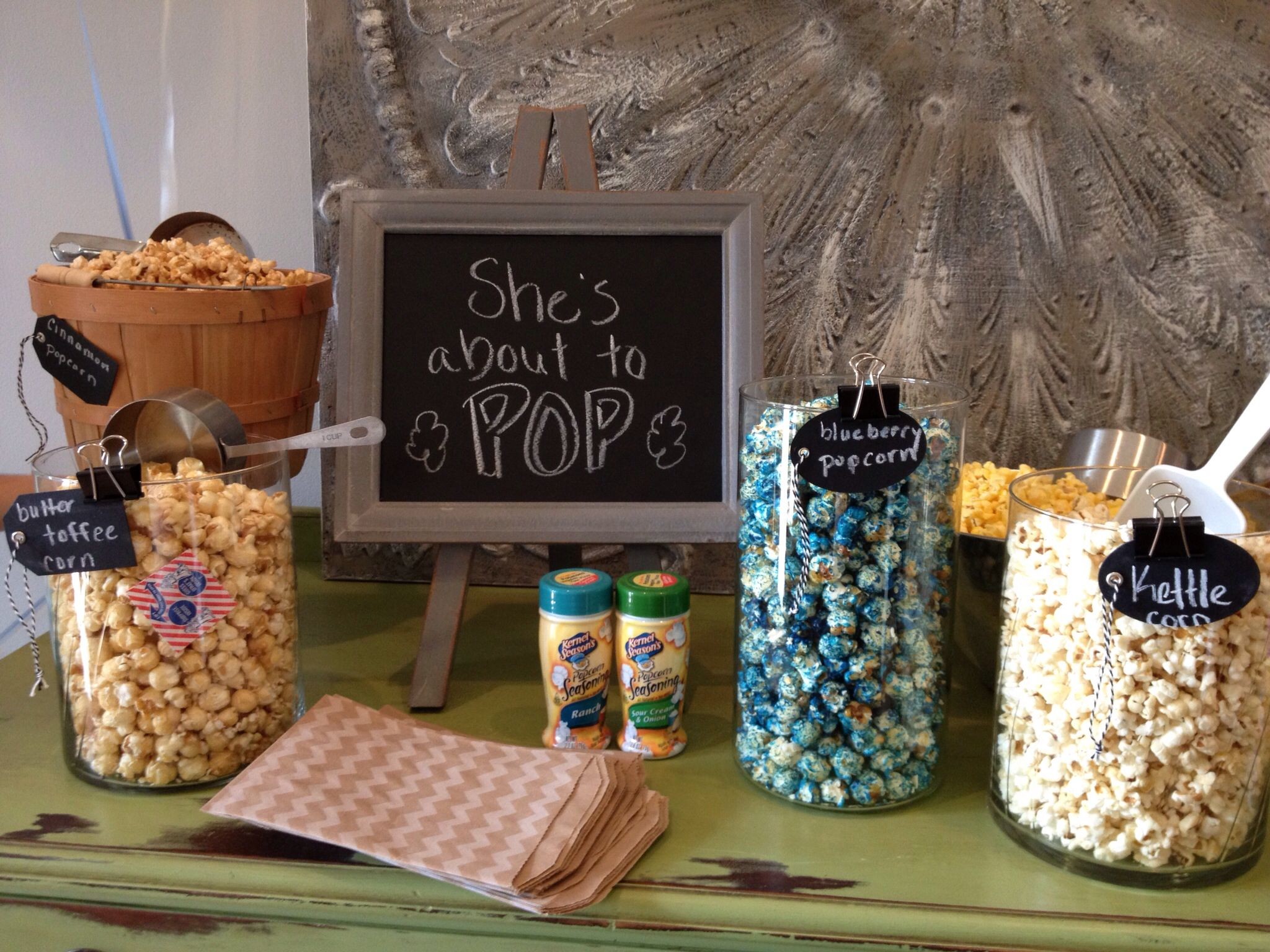 Popcorn Bar Baby Shower Fun With Simply Janelle Designs Party