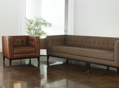 American Leather Luxe Sofa And Chair