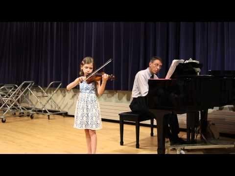 Martini Gavotte Informal Recital Performed By Maia Ark Asi 2015 Recital Violinist Violinists