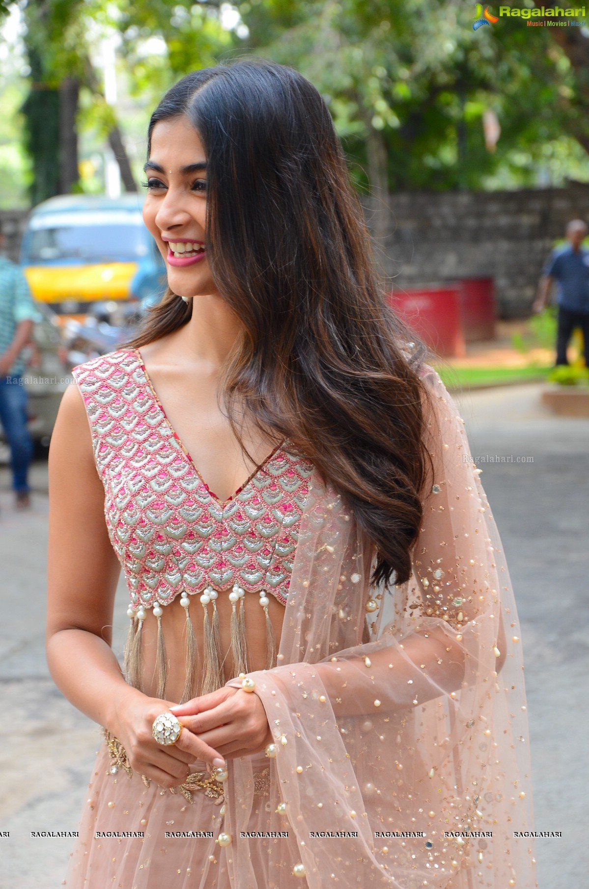 pooja hegde at sakshyam movie poster launch image 35 | telugu