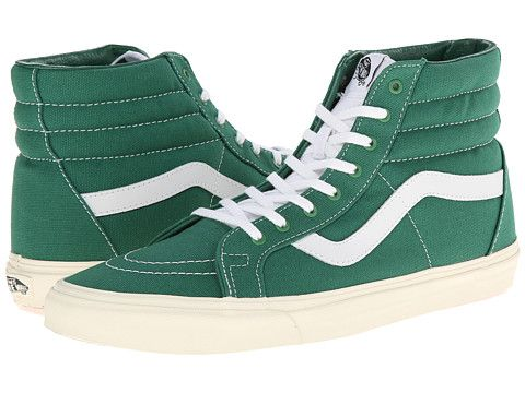 Sk8 hi reissue 10 oz canvas verdant green marshmallow, Vans, Shoes