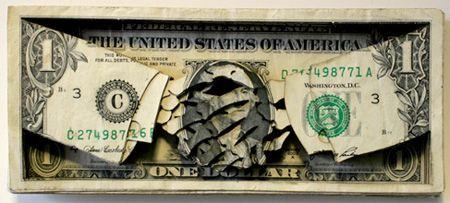 Scott Campbell, Laser Cut Dollar Bill