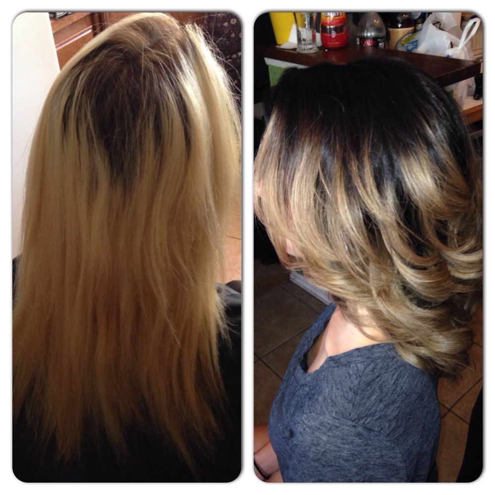 Before And After Haircut And Color By Regal Ard Hair 3